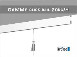 Cimaise Tableau Systeme De Rail Suspension Click Murale Et