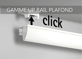 cimaise up rail plafond