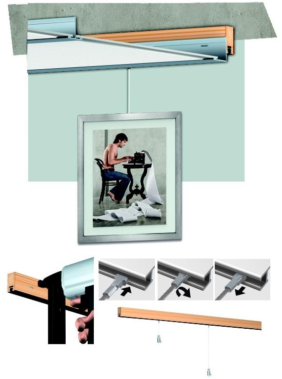 cimaise et cimaises pour tableau cimaise art strip sous plafond n 1 accrochage en europe. Black Bedroom Furniture Sets. Home Design Ideas